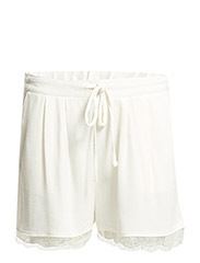 Textured flowy shorts - NATURAL WHITE