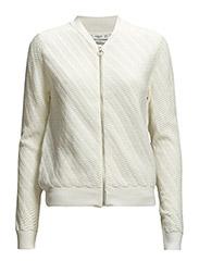 Textured cotton cardigan - Light beige