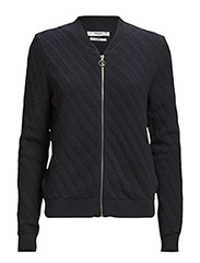 Textured cotton cardigan - Navy