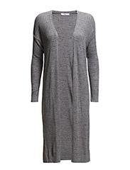 Long linen cardigan - MEDIUM GREY