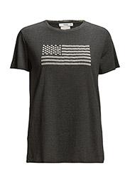 Printed cotton t-shirt - Dark grey