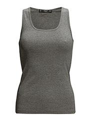 Essential cotton top - Medium grey