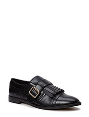 Oxford fringed shoes - BLACK