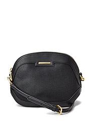 Cross-body pebbled bag - Black