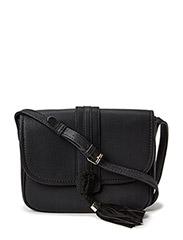 Pebbled cross-body bag - Black