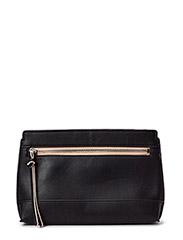 Contrast zip clutch - Black