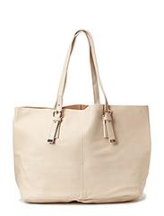 Pebbled shopper bag - Lt-pastel pink