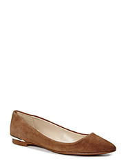 Pointed toe flat shoes - MEDIUM BROWN