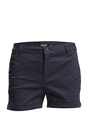 Cotton-blend shorts - NAVY