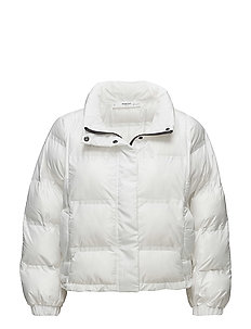Quilted feather coat - WHITE