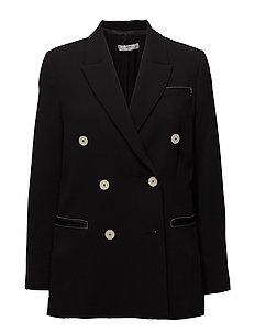 Contrast seam blazer - BLACK