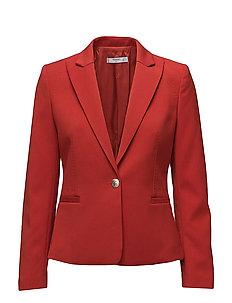 Peak lapel suit blazer - RED