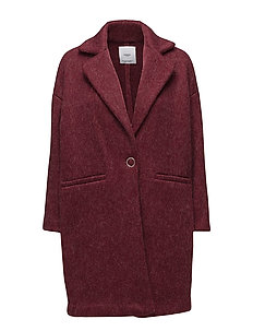 Mohair wool-blend coat - DARK RED