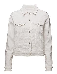 White denim jacket - WHITE