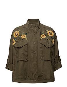 Bead embroidery jacket - BEIGE - KHAKI