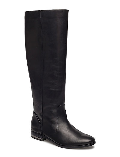 Leather High-Leg Boots