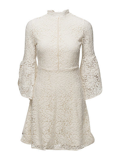 Flared Sleeves Guipur Dress