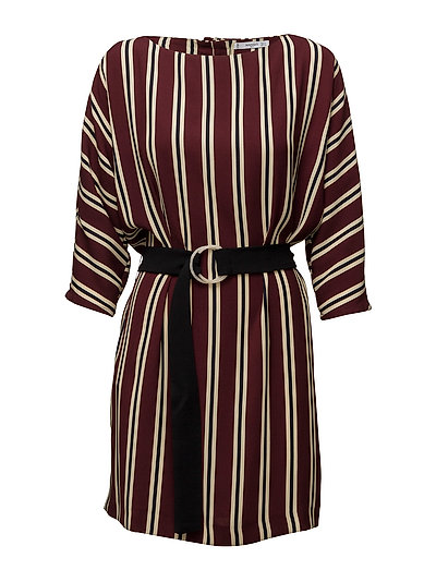 Belt Striped Dress