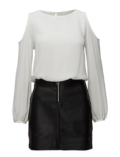Monochrome Contrast-Bodice Dress