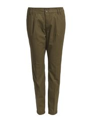 Pants, chinostyle - variantion with - khaki