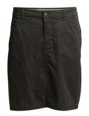 Skirt, chino style, sideseam detail - graphite