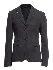 Blazer, regular shaped, 2 buttons, - medium grey mélange