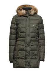 Coat, reg. filled down Parka, tape - herb olive