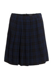 Skirt, twistes sideseams, pleats in - combo
