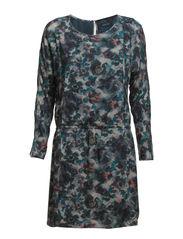 Dress, long sleeves, elastic waist, - combo