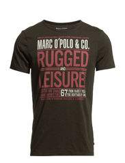 T-Shirt, short-sleeve, round-neck, - army green