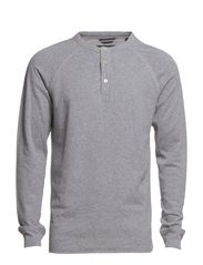 Serafino, long-sleeve, raglan-sleev - light grey mélange