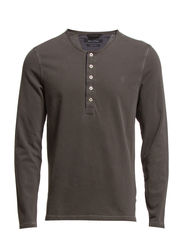Sweat-serafino, long-sleeve, ellbow - dark mocca