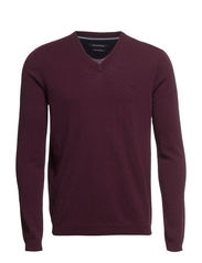Pullover, v-neck - dark grape