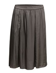 Skirt, mid-length, elastic waistban - marl