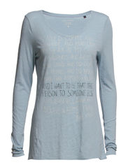 T-shirt, long-sleeve, front-print - sea breeze