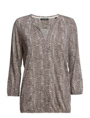 Jersey-blouse, 3/4-sleeve, aop - J56 combo