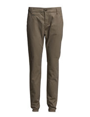 Pants, chino-style, loose fit, slim - classical camel