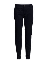 Pants, chino-style, loose fit, slim - dusk blue