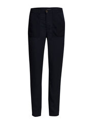 Trousers, loose fit, wide thigh, sl - dusk blue