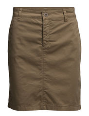 Skirt, kneelength, straight fit, wi - classical camel