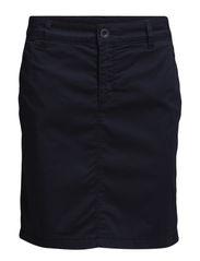 Skirt, kneelength, straight fit, wi - dusk blue