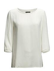 Blouse, t-shirt style, jersey detai - broken white