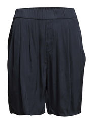 Shorts, with elastic waistband, sli - dusk blue