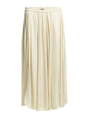 Skirt, almost ankle length, elastic - balsam