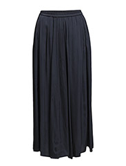 Skirt, almost ankle length, elastic - dusk blue