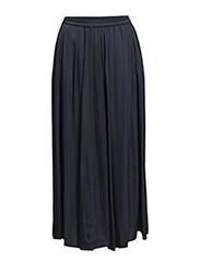 Skirt, almost ankle length, elastic - dusk blue