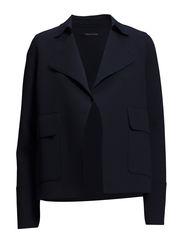 Jersey-caban-jacket, bonded - dusk blue