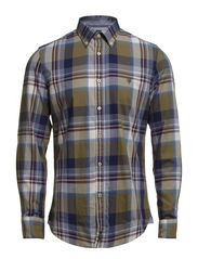 Shirt, long sleeve, button down col - combo