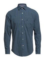 Shirt, long sleeve, spread collar, - combo