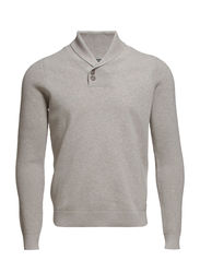 Pullover,shawl collar, sweater styl - frost grey